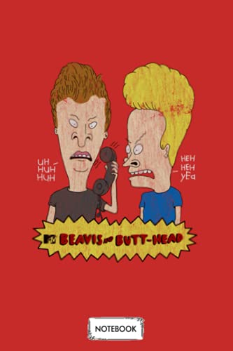 Vintage Beavis And Butthead Notebook: Planner, Diary, Lined College Ruled Paper, Matte Finish Cover, Journal, 6x9 120 Pages