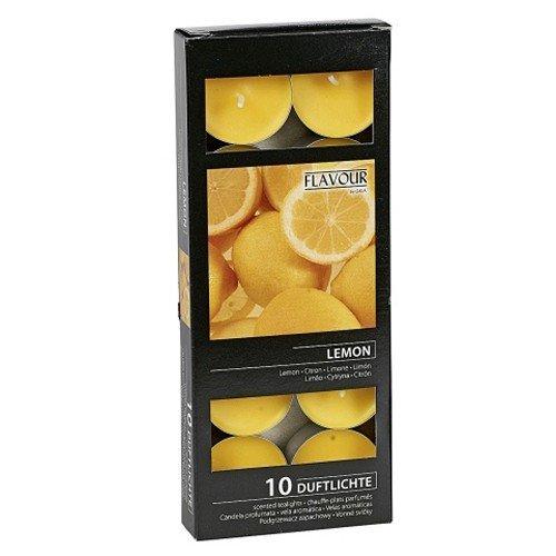 Citron parfumée Bougie chauffe-plat Bougies aromatiques Lot de 10 par boîte
