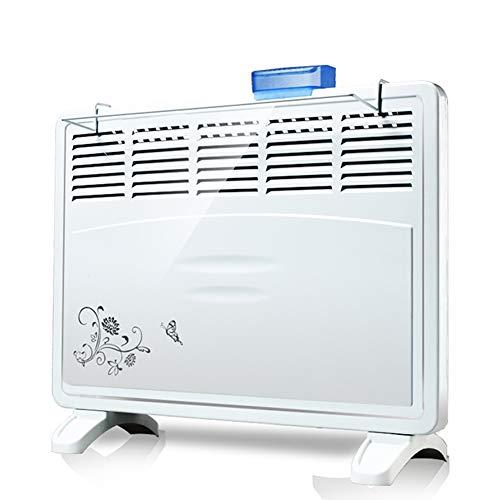Chauffage électrique Convecteur Radiateur de sécurité Radiateur de Salle de Bain à Fixation Murale ou au Sol, Silencieux et à économie d'énergie (1000w/2000w)