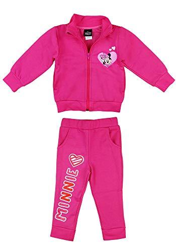 Baby Bekleidungssets Disney Baby-Trainingsanzug Minnie Mouse 2 TLG Set Pink Mädchen Sportanzug 80 86 92 98 Jogginganzüge für Baby-Mädchen, Größe: 98