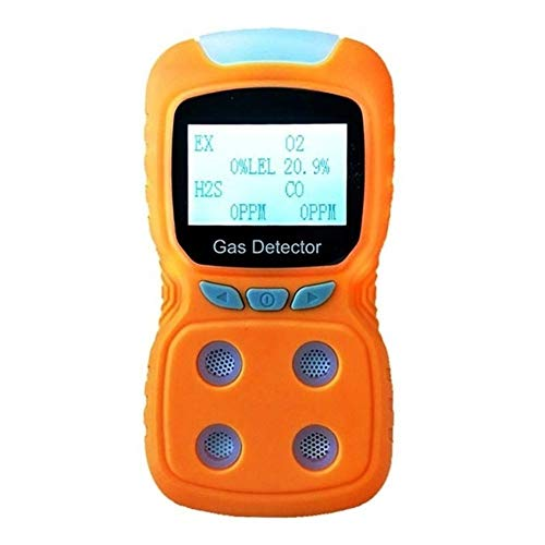 no-branded LCD 4 in 1 Gas Analyzer USB aufladbare digitalen Gasmelder Toxic Gas Alarm Detector CO O2 H2S Sauerstoffmonitor Meter XXYHYQHJD (Color : Gelb, Size : Kostenlos)