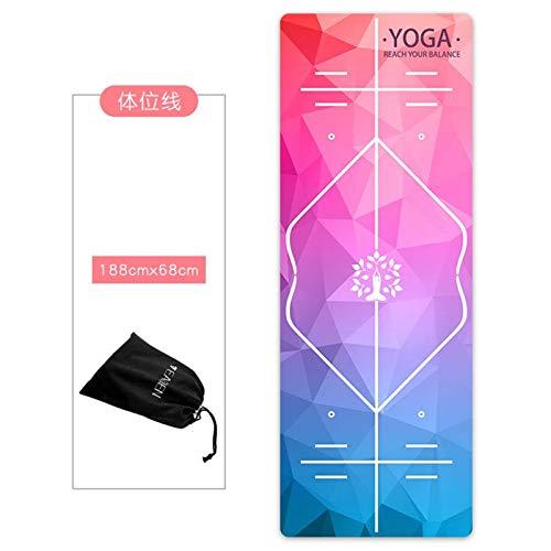 PROUNON Pronuncio Manta de Yoga Impresa Antideslizante Plegable Portátil Travel Fitness Ejercicio Mat Funda Microfibra Yoga Mat Mantle Bag Vendaje Estera de Fitness (Color : PJ17 5)
