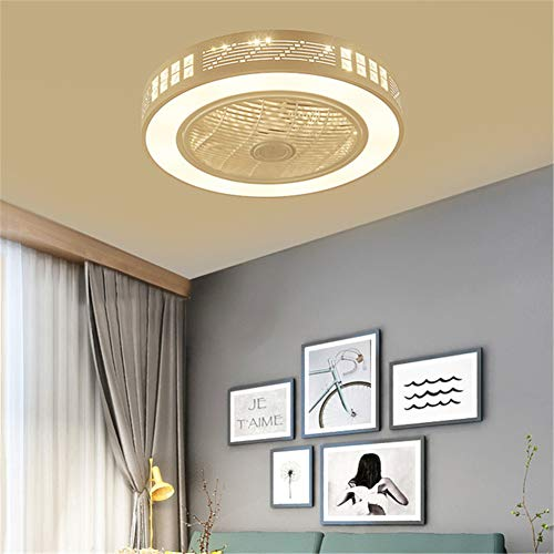 LightJH Plafondventilator met lamp, led-licht, verstelbare windsnelheid, met afstandsbediening zonder batterij, 72 W, moderne led-plafondlamp voor slaapkamer, woonkamer, eetkamer