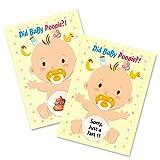 48 piezas de juegos de baby shower tarjetas para rascar actividad divertida para niño niña baby shower fiesta caca rifa boletos decoraciones suministros