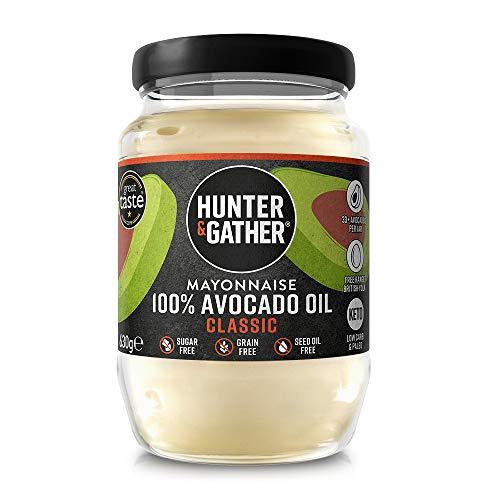 Hunter & Gather Mayonesa de Aceite de Aguacate Puro 630g | Paleo, Keto, Libre de Gluten y Azúcar | Libre de Saborizantes Artificiales