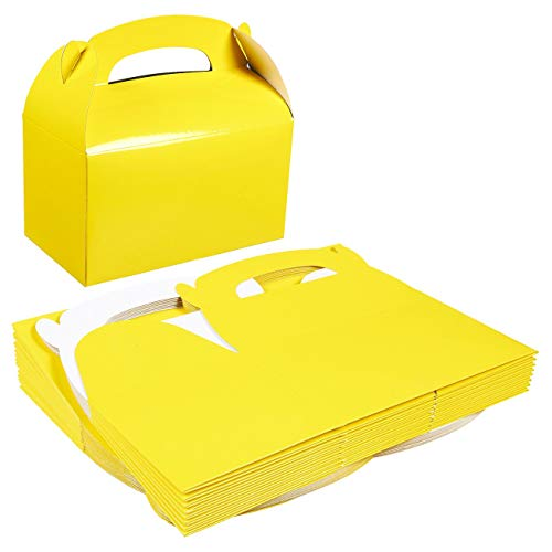Yellow Gift Box, Party Favor Boxes (6.2 x 3.5 x 3.6 In, 24 Pack)