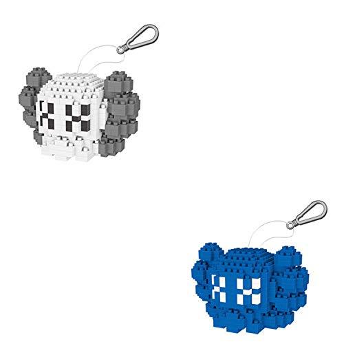 BAIDEFENG Juego De Micro Bloques De Construcción KAWS Nano Micro Bloques Llavero IY Juguetes Regalo para Adultos Niños (Contiene Dos Modelos Pequeños),B
