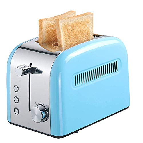 YFGQBCP Tostadora Home Breakfast Toaster 2 Slices Toaster Toaster Calefacción de Doble Cara Dormitorio Comercial automático Bajo Consumo (Color : Blue)
