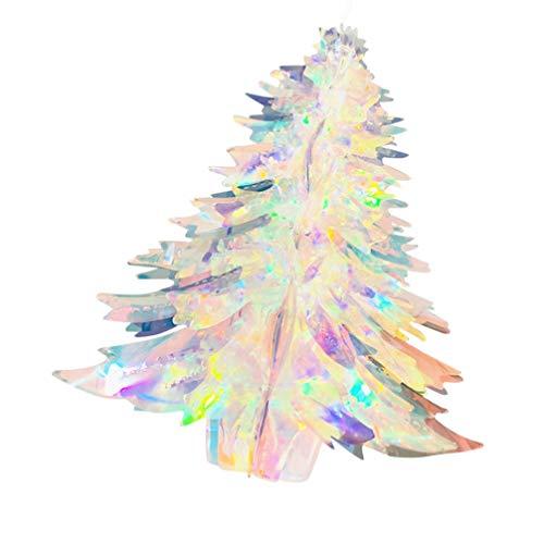 VALICLUD Albero Di Natale Iridescente Arcobaleno Lamina Soffitto Pom Bagattella Ornamento Decorativo Da Appendere Per Vacanza Congelata Olografica Compleanno Matrimonio Decorazione Della