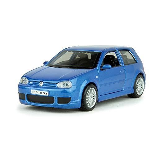 MAISTO MI31290B VW GOLF 4 R32 2002 BLUE 1:24 MODELLINO DIE CAST MODEL
