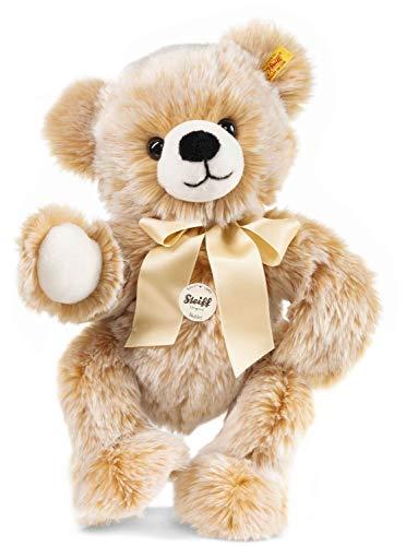 Steiff Bobby Schlenker-Teddybär - 40 cm - Teddybär mit Schleife - Kuscheltier für Kinder - weich & waschbar - braun gespitzt (013515)