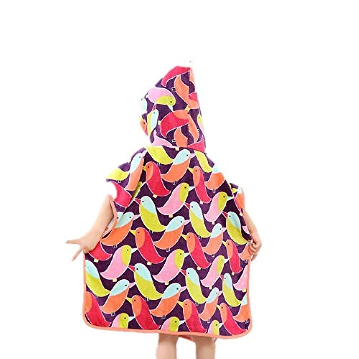 はさみバーチャルと組むキッズ/幼児タオル - 綿100% - キッズバスタオルビーチタオルプールスイミングカバーアップなどに使用 - すべての季節のための超通気性とソフト - 60 cm (Color : Multi-colored)