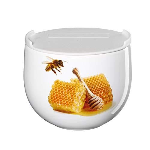ASA Vorratsdose Honig, Porzellan, Deckel aus PE, D: 9,5 cm, H: 8 cm