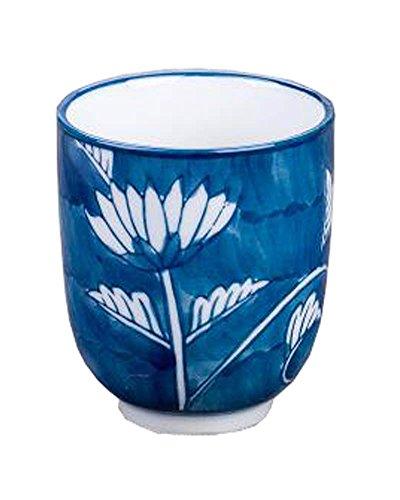 Black Temptation Juego de 2 Tazas de cerámica de Estilo japonés Taza de té Flores pintadas a Mano [Crisantemo] [D]
