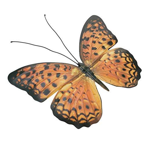 YARNOW Hierro Forjado Mariposa Decoración de La Pared Metal Mariposa Decorativa Arte de La Pared Decoración de La Pared Escultura Colgante para Interior Y Exterior Amarillo
