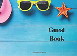 Guest Book: Summer Fun Guest book with flip flops, sun hat and sunglasses