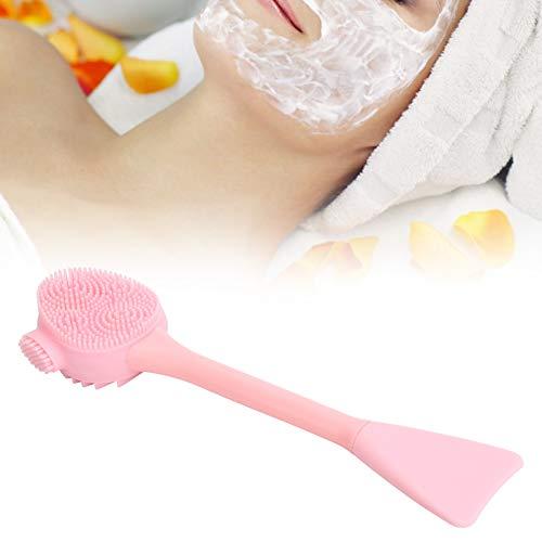 Herramienta de limpieza facial, cepillo de silicona de mano fácil de sujetar para maquillaje(Full powder double-headed fishtail)