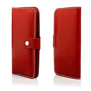 Gütersloher Shopkeeper Funda tipo libro para BQ Aquaris X5 Plus, color rojo oscuro