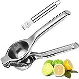 Home-Well Manual Lemon Squeezer - Lemon Juicer Stainless Steel Citrus Press With Lemon Zester