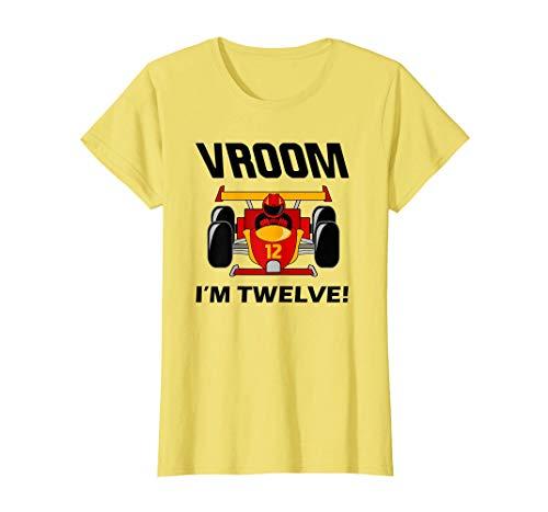 Camiseta de mujer para 12th Birthday Car Racing 12 Year Old Race Multicolor L