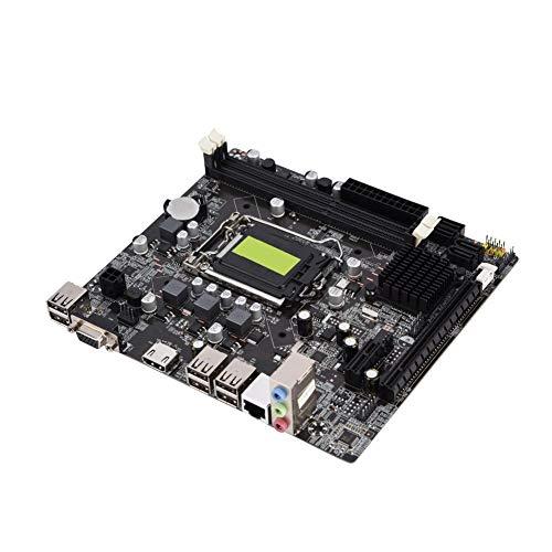 Placa-mãe H61, fonte de alimentação trifásica LGA 1155 Placa-mãe de computador modelo B de estado sólido com suporte DDR3 para suporte a 1066/1333/1600/1866