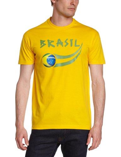 Supportershop Herren Brasil Fan T-Shirt, gelb, M