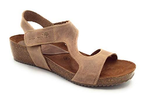 INTER-BIOS 5316 Sandalen beige mit Klettverschluss, Beige - Beige - Größe: 41 EU