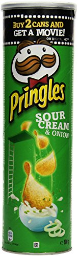 Pringles Sour Cream and Onion, 4er Pack (4 x 190 g)