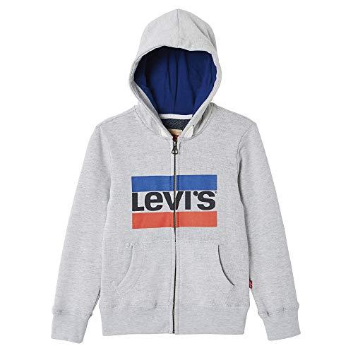 Levi's Kids Jungen Nn17017 Waistcoat Sweatshirt, Grau (Light China Grey 22), 16 Jahre (Herstellergröße: 16Y)