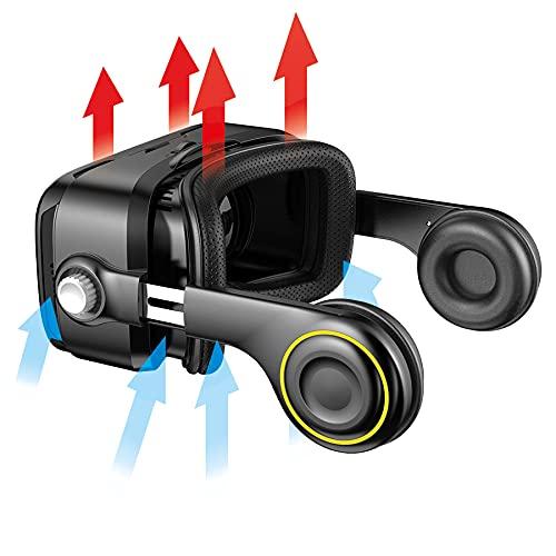 VR Shark X4 - VR Brille / Headset für 4,7-6,2″ Android Handy Displays kompatibel mit Samsung, Sony, HTC, LG, Huawei, Motorola, Xiaomi, Asus, Lenovo, Nokia [120 FOV / QR Codes]