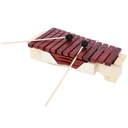 mit Mallet-Xylophon-Set, mit Palisander-Ständer 1,98 * 0,67 * 0,87 Zoll Xylophon, für musikpädagogisches Training für Unterrichtsmaterial für Shows