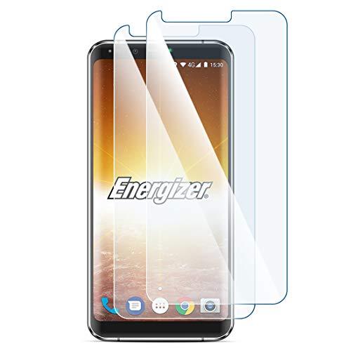 Karylax Bildschirmschutzfolie aus Hartglas Nano flexibel bruchsicher Festigkeitgrad 9H, ultradünn 0,2 mm & 100 prozent transparent für Smartphone Energizer Hardcase H550S (2 Stück)