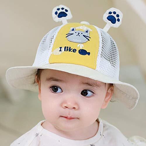 FUFU Gorros de aviador Sombrero de protección for los 0-3 años de edad, niño de los cabritos muchachas de los bebés anti Escupir anti-polvo de protección sombrero protector de cara Pescador sombrero f