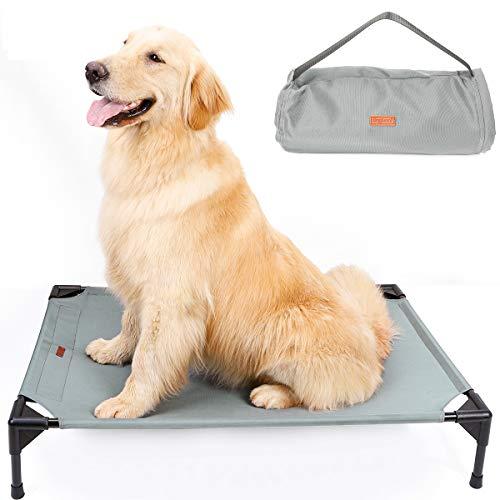 ETOPARS Cama para Mascotas Elevada, Cama Portátil para Mascotas Lavable, Cama Mascota Exterior para Verano, Cama portátil para Mascotas Levantada para Acampar para Perros Medianos y Grandes