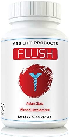 Flush Prevention Asian Glow Alcohol Intolerance Pills Red Face Supplements Clinically formulated product image