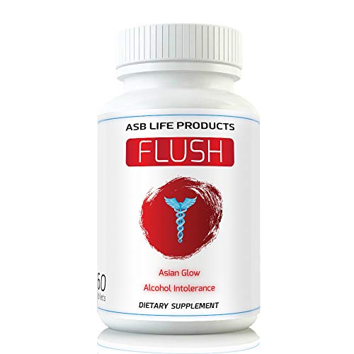 Flush Prevention Asian Glow Alcohol Intolerance Pills Red Face Supplements Clinically formulated Fastest Absorption Hangover Relief