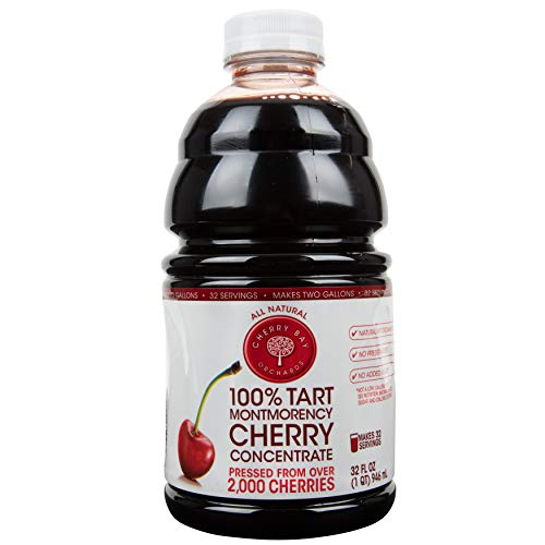 Cherry Bay Orchards Tart Cherry Concentrate  Natural Juice to Promote Healthy Sleep 32oz Bottle