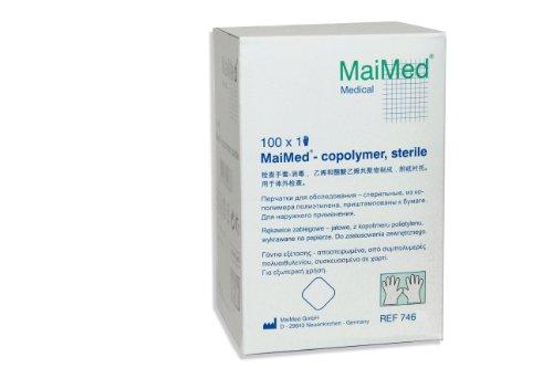 Maimed Copolymer Handschuhe - transparent - steril - einzeln verpackt - Gr.S - 100 Stück