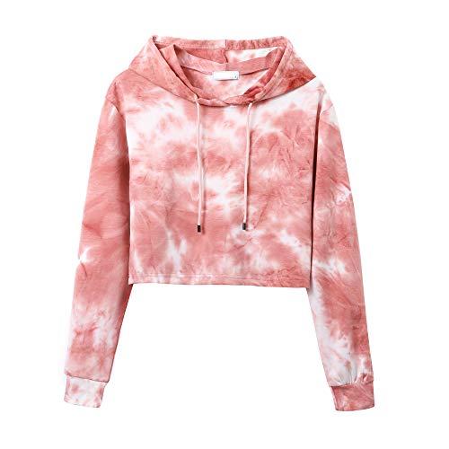 Sweet Bei J Mädchen Hoodie Cropped Pullover Mit Kapuze Kurz Sweatshirts ZRosa M
