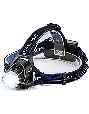 Hoplaza LEDヘッドライト USB充電式 1200ルーメン輝度