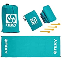 NIXY Landing Mat Paddle Board Ground Tarp 142″ x 57″, Quick Drying, Durable, Sand and Dirt Resistant, Nylon, Best for Water Gear