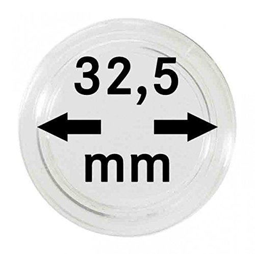 LINDNER Das Original Münzkapseln Innen-Ø 32,5 mm, 100er-Packung, Entspricht Originalkapsel 10 Euro in Spiegelglanz
