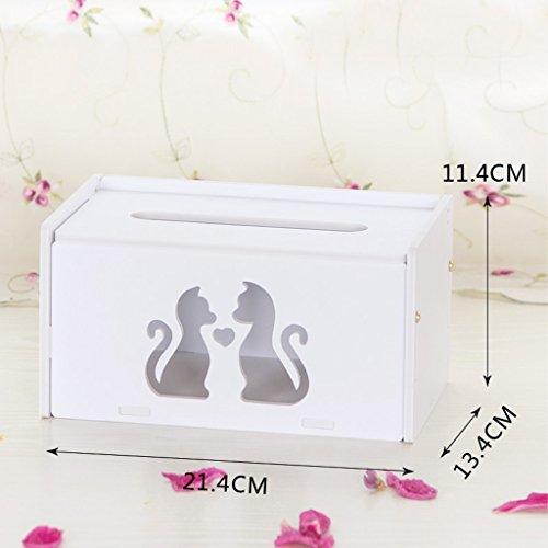 Boîte de rangement de papier Creative européen Boîte de rangement de bureau Boîte de rangement simple blanc Boîte de rangement de table verte étanche Boîtier en bois-plastique (couleur : Blanc)