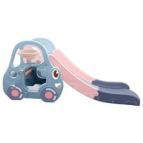 XWX Tobogán For Los Niños Interiores Sola Diapositiva Slide Kinder Espesar Bebé Pequeño Juguete del Patio De Diapositivas (Color : Blue)