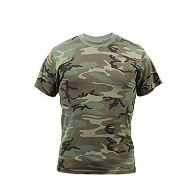 Rothco Vintage Camo T-Shirts, 2XL, Woodland Camo