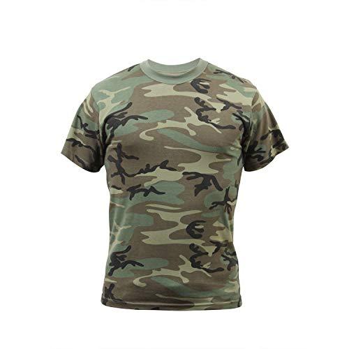 Rothco Vintage T-Shirt, Woodland Camo, Medium