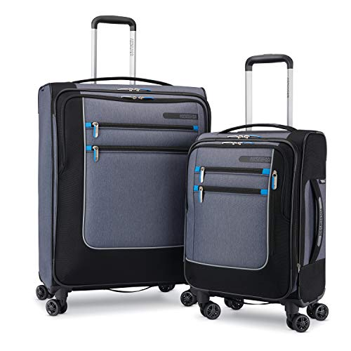 American Tourister iStack Travel System Softside 2-Piece Set (19/25) with Double Air Flow Spinner Wheels
