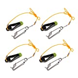 MagiDeal 4pcs Einstellbar Downrigger Release Clip