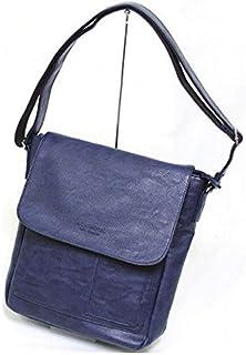 十川鞄 B.C.+ISHUTAL イシュタル ルーラル フラップ タテ型 ショルダーバッグ ネイビー IRU-5903-NV