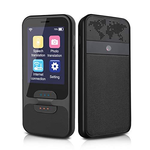 Bestrans Sprachübersetzer mit Kameraübersetzung, Voice Translator 40 Sprachen Bidirektionale über Mobiler WLAN-Hotspot, 2,4 Zoll Touchscreen, Tragbar, geeignet für Reisen, Geschenk geben und Lernen